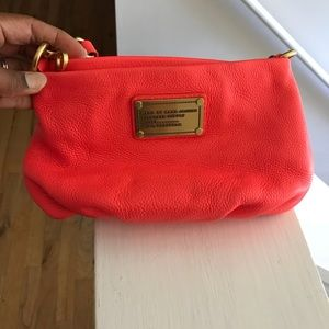 Marc by Marc Jacobs Neon Orange Leather Crossbody